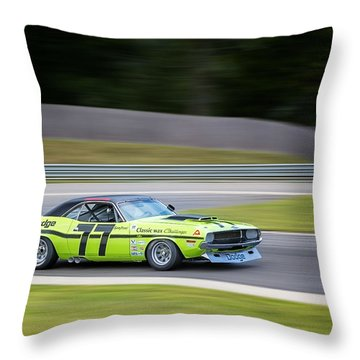 Dodge Challenger Throw Pillow by Bill Wakeley