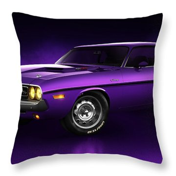 Dodge Challenger Hemi - Shadow Throw Pillow