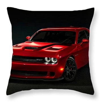 Dodge Challenger S R T Hellcat Throw Pillow