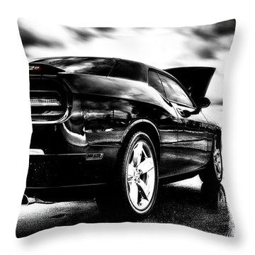 Dodge Challenger Srt In Hdr Throw Pillow by Michael White