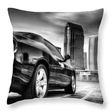 Dodge Challenger Tampa Skyline  Throw Pillow