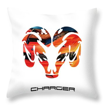 Dodge Charger Throw Pillow by Michael White