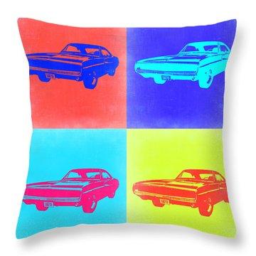 Dodge Charger Pop Art 1 Throw Pillow