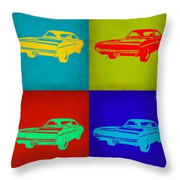 Dodge Charger Pop Art 2 Throw Pillow