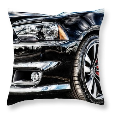 Dodge Charger Srt Throw Pillow by Michael White