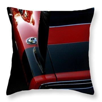 Dodge Daytona Fin Throw Pillow by Peter Piatt