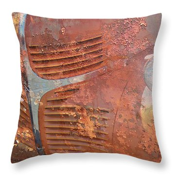 Dodge In Rust Throw Pillow by Larry Bishop