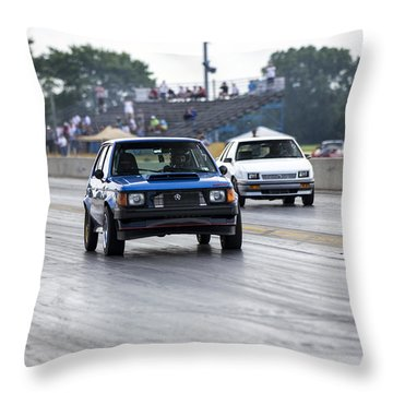 Dodge Omni Glh Vs Rwd Dodge Shadow - Without Times Throw Pillow