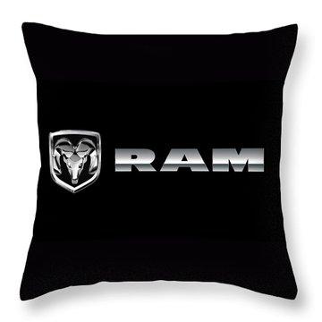 Dodge Ram Logo Throw Pillow