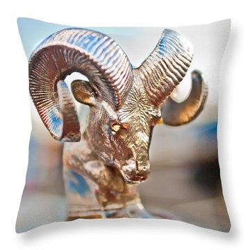 Dodge Ram Hood Ornament 3 Throw Pillow