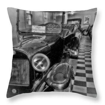 Dodge Touring Throw Pillow by Larry Bishop
