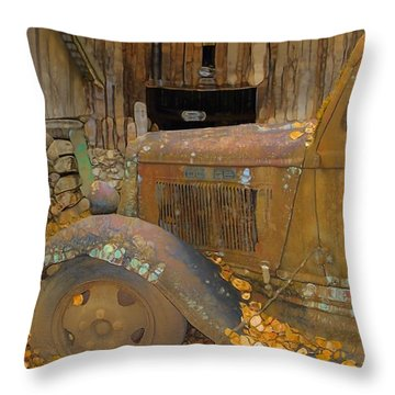 Dodge Truck Autumn Abstract Throw Pillow by Dan Sproul