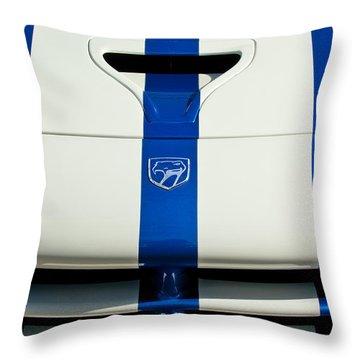Dodge Viper Hood Emblem Throw Pillow