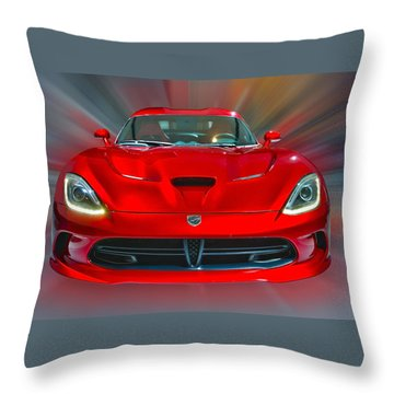 Dodge Viper Srt  2013 Throw Pillow