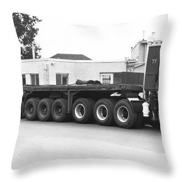 Dodge's Biggest Truck Throw Pillow