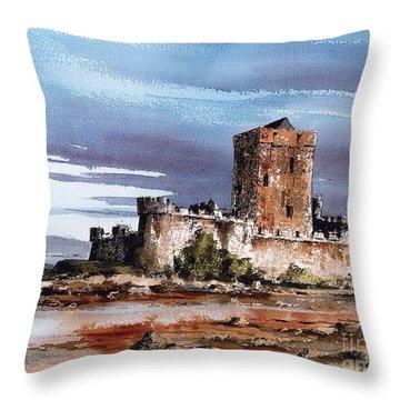 Donegal  Doe Castle Nr Creeslough  Throw Pillow