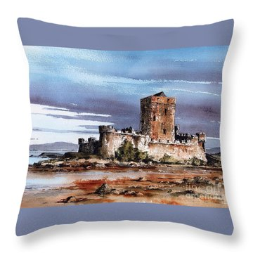 Donegal  Doe Castle Nr Creeslough  Throw Pillow