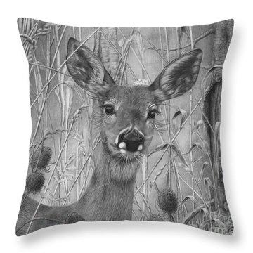 Doe Pretty Throw Pillow