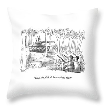 Does The N.r.a. Know About This? Throw Pillow