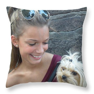 Dog And True Friendship 4 Throw Pillow by Teo SITCHET-KANDA