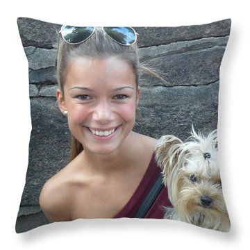 Dog And True Friendship 5 Throw Pillow by Teo SITCHET-KANDA