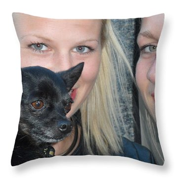 Dog And True Friendship 6 Throw Pillow