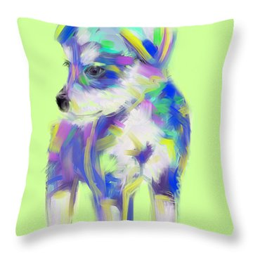 Dog Cute Puppy Throw Pillow