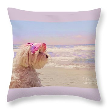 Dog Days Of Summer Throw Pillow by Andrea Auletta