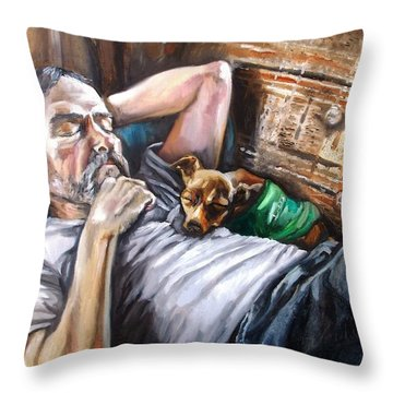 Dog Days Throw Pillow by Shana Rowe Jackson