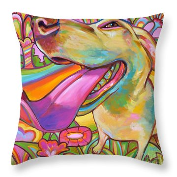 Throw Pillow featuring the painting Dog Daze Of Summer by Robert Phelps