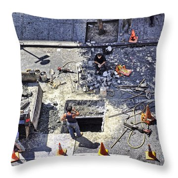 Dog Daze Throw Pillow by Steve Sahm
