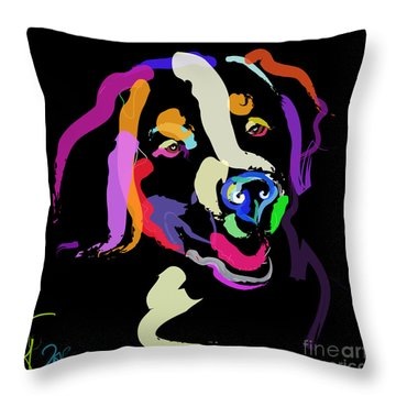 Dog Iggy Color Me Bright Throw Pillow