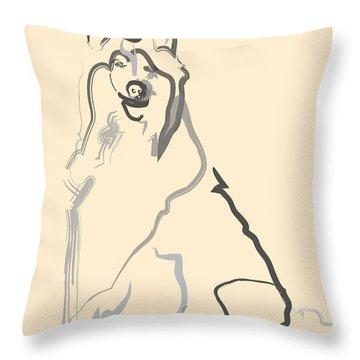 Dog - Lassie Throw Pillow