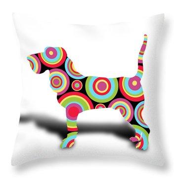 dog Throw Pillow by Mark Ashkenazi