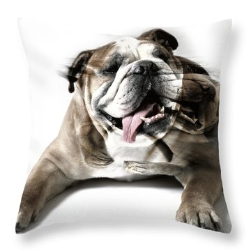 Dog Mastiff Throw Pillow