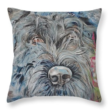Dog Of Flanders The Bouvier Throw Pillow by PainterArtist FIN