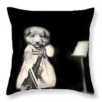 Dog Serenade Throw Pillow