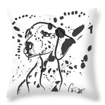 Dog Spot Throw Pillow by Go Van Kampen