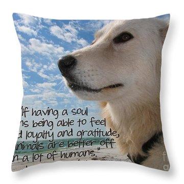 Doggie Soul Throw Pillow