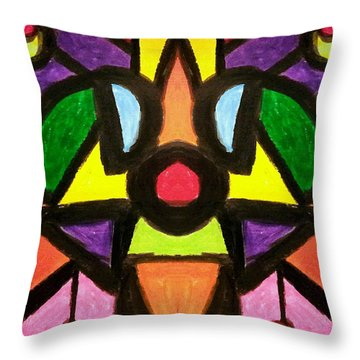 Doggy Days Throw Pillow by Lady Ex