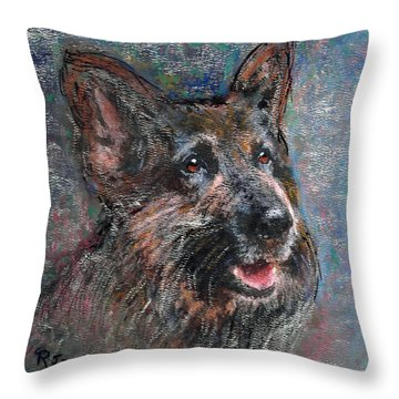 Doggy Dreams Throw Pillow by Richard James Digance
