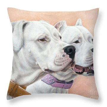 Dogo Argentino Throw Pillow by Tobiasz Stefaniak