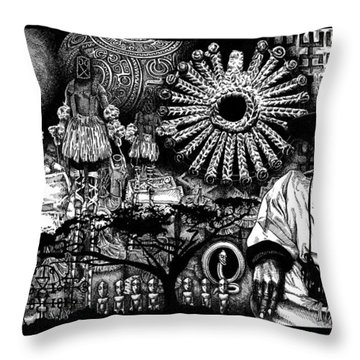 Dogon Dream Throw Pillow