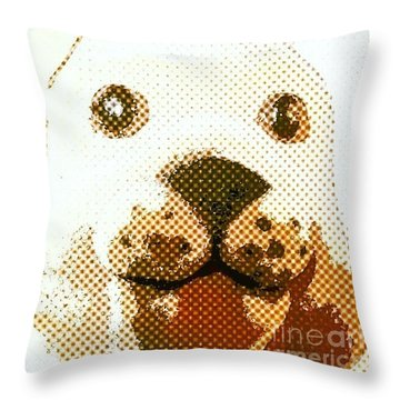 Dogs Head Throw Pillow