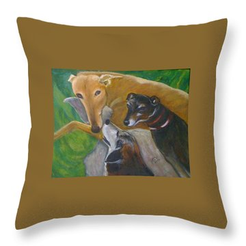 Dogs Resting Throw Pillow
