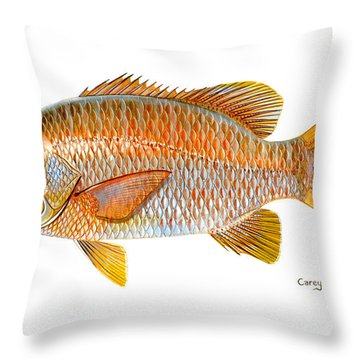 Dogtooth Snapper Throw Pillow by Carey Chen