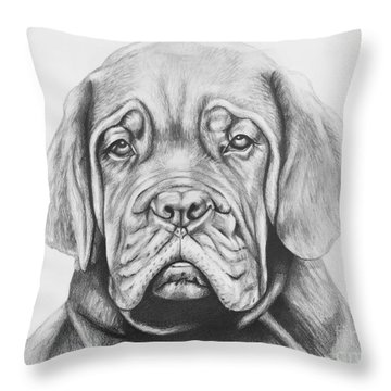Dogue De Bordeaux Dog Throw Pillow