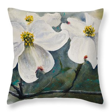 Dogwood 7 Throw Pillow