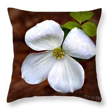 Dogwood Blossom Yosemite Throw Pillow