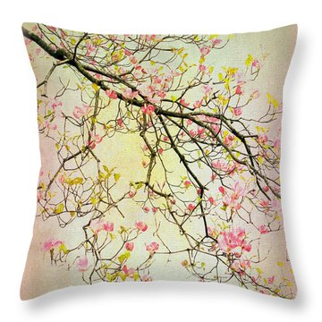Dogwood Canvas 4 Throw Pillow